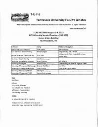 T·U·F·S Tennessee University Faculty Senates