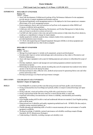 Reliability Engineer Resume Reliability Engineer Resume Samples Velvet Jobs 3