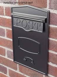 rear access locking mailbox for masonry