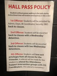 Student Hall Pass