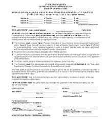 Hr Contract Templates Best Snow Removal Contract Template Gallery Hr Agreement Free Templates