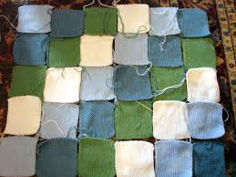 Knitted patchwork baby blanket… &  Adamdwight.com