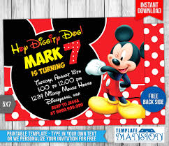 mickey mouse party invitation 033 mickey mouse birthday invitation by templatemansion on
