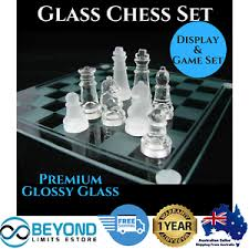 home office decor games. Image Is Loading Deluxe-Glass-Frosted-Chess-Board-Game-Set-Elegant- Home Office Decor Games I