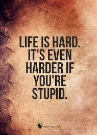 Life Is Hard It's Even Harder When You're Stupid Learning Mind Gorgeous Life Is Hard Its Harder If Youre Stupid Poster