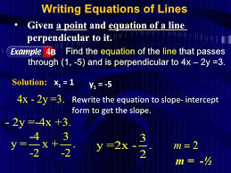 perpendicular lines slope intercept form example fresh topic 8 writing equations a straight lines