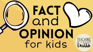 Fact Vs Opinion Anchor Chart Fact Or Opinion For Kids