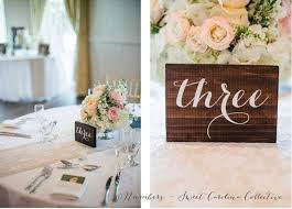 calligraphy table numbers table numbers wood table numbers