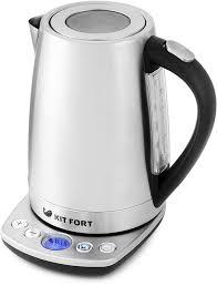 Купить <b>Чайник электрический KITFORT</b> КТ-<b>645</b>, серебристый в ...