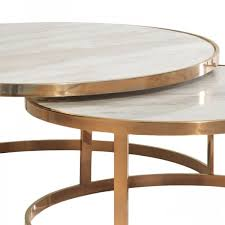 table nest. allure marble nest of coffee tables table