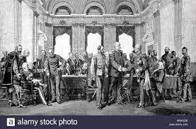 Il Congresso di Berlino nel 1878, Germania, digitale migliorata la  riproduzione di un originale a partire dall'anno 1880 Foto stock - Alamy