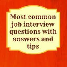 Common Marketing Interview Questions Common Job Interview Questions And How To Answer Them