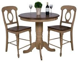 small round bistro table 3 piece brook round pub table set with napoleon stools small bistro