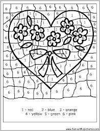 Coloriage Magique En Forme De Coeur L