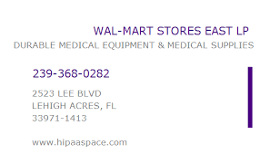 Walmart In Lehigh Acres 1689691073 Npi Number Wal Mart Stores East Lp Lehigh Acres Fl