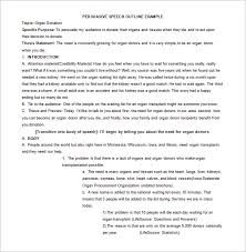 persuasive speech outline template sample example  persuasive speech outline example