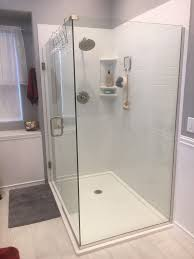 custom solid surface pan with custom drain location innovate building solutions customshower