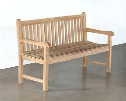 natural teak garden bench three seater 2