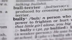 Bully Word Pointed In English Vocabulary Aggressive Person Humiliating Others
