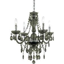 af lighting supernova 20 light chandelier 4 light chrome mini chandelier with smoke colored plastic bead