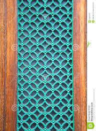 Decorative Metal Grates Green Painted Metal Grate On City Door Stock Photos Image 30292343
