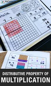 Properties Of Multiplication Chart 4 Activities To Review The Distributive Property Of