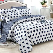 patterned duvet covers dark blue and white star chic cream sets