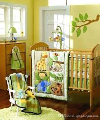 infant crib bedding sets giraffe elephants monkeys jungle animals boy baby crib bedding sets quilt pers