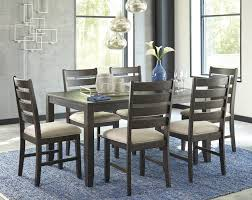 gray dining room furniture. Rokane - Brown Dining Room Table Set (7/CN) Gray Furniture A