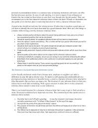 What Should Be Included In A Recommendation Letter Gallery Letter