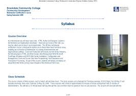 bcc webmaster certification program syllabus spring  brookdale community college webmaster certification program syllabus spring 1999 brookdale community college community