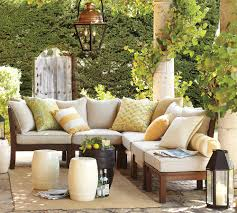 summer outdoor furniture. Outdoor Living Space Couch And Plants Summer Furniture E