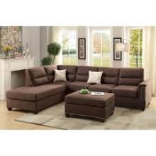sectional couches for sale. Esofastore Living Room 3pc Sectional Reversible Chaise Sofa \u0026 Ottoman Chocolate Polyfiber Comfort Seating Couch Couches For Sale
