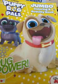Disney Puppy Dog Pals Jumbo Coloring Activity Book Pug Power