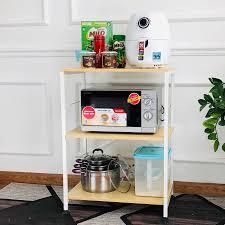 Kệ để lò vi sóng - Kệ để đồ - Kệ nhà bếp đa năng KENA KN173 thiết kế 3 tầng  để gọn lò vi sóng, nồi cơm điện, các đồ dùng