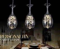 three restaurants led dining hall crystal chandelier 3 creative glass cups lamps modern simplicity whole manufacturers