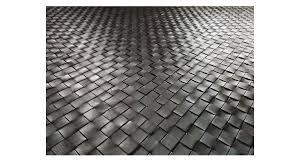 woven leather rug diagonal dark brown basket weave leather rug diagonal dark brown