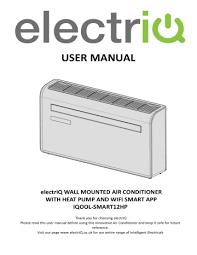 electriq iqool smart12hp 10000 btu wall