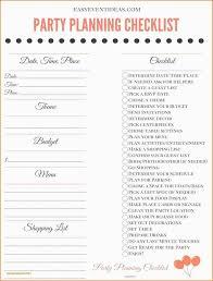 Party Planner Checklist Template Birthday Party Checklist Template Plus Best Of 18 House Party
