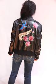 sold hand painted leather jacket unfettered spirit free image
