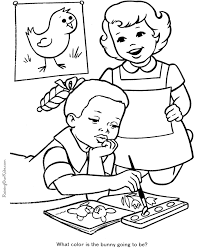 Small Picture Cute School Coloring Page 024