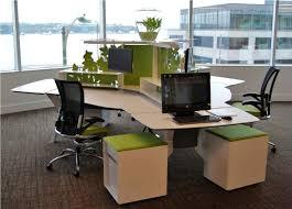 office desk aquarium. Grey Ceramic Flooring Tiles In Modern Office Design Ideas With Trigonal Desk Black Swivelchairs Aquarium D