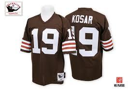 And Home Throwback Kosar Browns Brown 19 Bernie Men's Jersey Cleveland Mitchell Authentic Nfl Ness