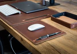 desk blotters leather leather desk organizer set pad quill