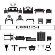 black n white furniture. Furniture Icons Collection Black N White Furniture