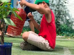 Thiếu nhi quận 12 trồng cây xanh xây dựng khu vườn tuổi thơ Thành Đoàn  TP.Hồ Chí Minh