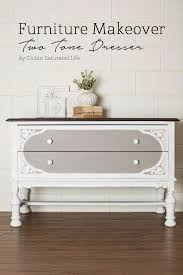 painting furniture ideas color. Colour Saturated Life | Two Tone Painted Dresser Before \u0026 After Using Miss Mustard Seed Milk Painting Furniture Ideas Color W