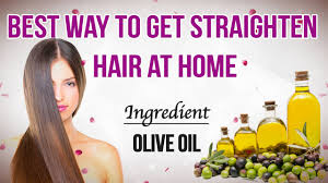 straighten hair at home with olive oil