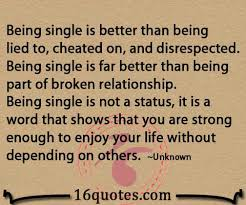 Cheating Boyfriend Quotes Gorgeous Being Single Is Better Than Being Lied To Cheated On