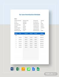 8 Car Loan Amortization Schedules Google Docs Apple